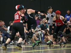 Roller derby action at Remington's in Springfield on