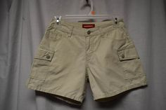 Juniors Size 3 Unionbay Tan Kahki Shorts Cargo Style 4 Pockets Button Zip Close #UNIONBAY #Cargo