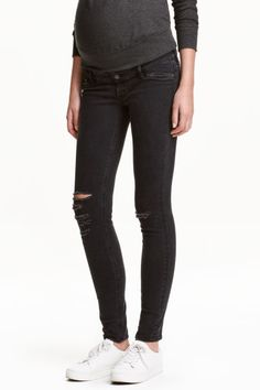 MAMA Skinny Jeans Trashed - Black - Ladies | H&M GB