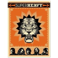 Check out The Rolling Stones SuperHeavy Screen Print on @Merchbar.