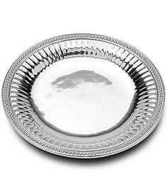 "Wilton Armetale ""Flutes & Pearls"" Round Serving Tray | Dillards.com"