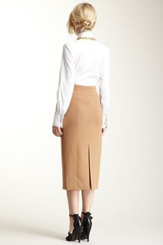 Double Crepe Pencil Skirt