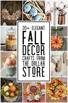 You CAN make elegant, simple fall crafts from the dollar store! Gorgeous fall decor can be inexpensive with a little creativity on a budget. This roundup collection includes candle holders, painted pumpkins, tablescapes, beautiful fall wreaths, wall art, and more #falldecor #craft #dollarstore #autumn #falldecorating #dollarstorecrafts Elegant Fall Decor, Rustic Fall Decor, Fall Home Decor, Diy Home Decor On A Budget, Affordable Home Decor, Fall Crafts, Decor Crafts, Diy Crafts, Thanksgiving Table Settings