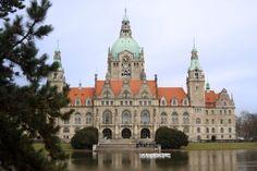 Teichschafe auf dem Maschteich am neuen Rathaus in Hannover 2010 - Kunstaktion von Jens-Uwe Scholz