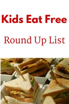 Up to date list of national restaurants that offer kids eat free promotions. Great way to save!