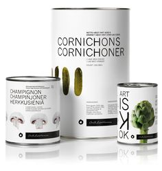 Packaging designed by Mousegraphics for Danish canned food brand Feldthusen