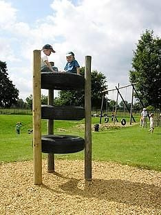 Child's Up-Cycled Outdoor Playground Climber/Stepper Frame,3 Tier There have been requests for a new addition to the backyard playground.