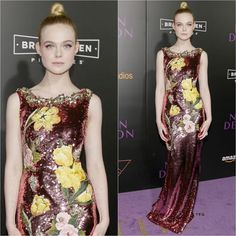 Elle Fanning in Dolce & Gabbana at The Neon Demon LA Premiere