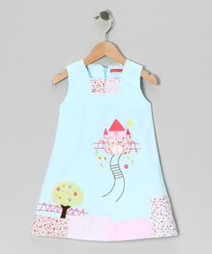 Take a look at this Blue Castle Dress - Infant by Maggie Peggy on #zulily today!