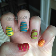 Colorful Zebra with Matte :)   Instagram: ciarablack  Twitter: ciarablack_#Repin By:Pinterest++ for iPad#