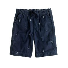Boys' pull-on recess short in grey anchor - JCrew.... I'd love to have these in my size & wardrobe!!!