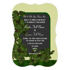 Mariage irlandais assez vert de shamrock carton d'invitation  12,7 cm x 17,78 cm Carton Invitation, Celtic Wedding, Bride, Greeting Card, Irish Wedding, Cards, Wedding Bride, Bridal, The Bride