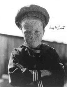 Jay R. Smith -  Former Child Actor. A native of Los Angeles, California, at the age of ten, he was cast by the Hal Roach Studios as the replacement for Mickey Daniels, the freckle-faced kid of the Our Gang series of shorts. Cremated, Ashes given to family or friend.