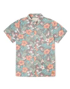 Native Youth Shirt with Hibiscus Print