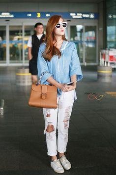 Jessica Jung Snsd airport fashion