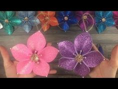 DIY: How to make Christmas tree flower ornaments - YouTube