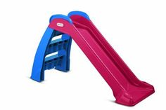 Fun Christmas Gifts for a Two-Year-Old Girl: a toy slide, which she can enjoy indoors or in the back yard