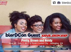 #Repost @blerdcon  Blerdcon Guest Announcement!  Pretty Brown and Nerdy!  We're Pretty Brown and Nerdy a youtube channel ran by three nerdy girls Jazmine Cheyenne and Camille! Through our channel we excitedly discuss all things nerd culture through our unique perspective; whether it be who are favorite badass anime ladies are or what new superhero movie trailer has us hype or Lets Play gaming videos or skits where we incorporate our nerdy lives into funny situations for our viewers. The…
