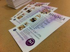 Parte de los últimos trabajos: rediseño e impresión de folletos full color para Mandala- Estética y Fitness