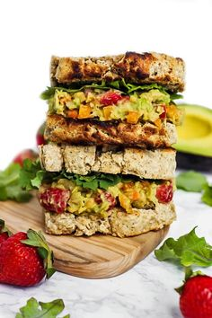 """Make packing lunch for work or school FUN with these 10 delicious vegan sandwiches! With everything from BLTs to """"egg"""" salad, you'll never get bored."""
