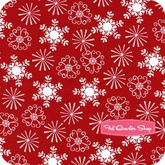 Holiday Red Little Flakes Yardage Michael miller SKU# Christmas Crafts For Gifts, Christmas Fabric, Craft Gifts, Fat Quarter Shop, Fabric Swatches, Fabric Patterns, Fabric Design, Sewing Projects, Card Making
