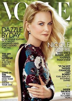 Nicole's controversial Vogue cover.: [object Object]
