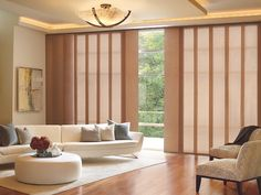 Skyline® Gliding Window Panels on a Sliding Glass Door, for sale at In The Shade in Stuart, FL