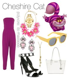"""""""Cheshire Cat"""" by its-massieee ❤ liked on Polyvore featuring Erickson Beamon, Matthew Williamson, Bling Jewelry, Givenchy, MICHAEL Michael Kors, Marni and Movado"""