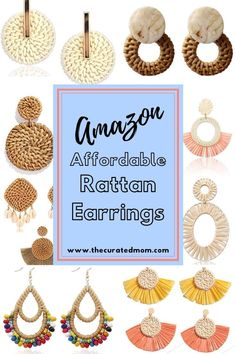 Looking for some cute and affordable new earrings? Look no further- you'll love these Amazon fashion finds! #amazonfashion #earrings #woodenearrings Wooden Earrings, Teardrop Earrings, Statement Earrings, Women's Earrings, Earrings Handmade, Handmade Jewelry, Dainty Bracelets, Geometric Jewelry, Jewelry Patterns