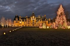 Biltmore House, Christmas  Asheville, NC. Largest private home in USA. Completed in 1895. Was home of George Vanderbilt.