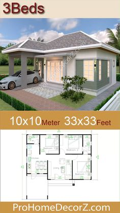 Cabin House Plans, House Layout Plans, Dream House Plans, Modern House Plans, House Layouts, Small House Plans, Simple Bungalow House Designs, Bungalow Haus Design, Modern Bungalow House