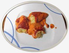 La Cocina de Adita: PIMIENTOS RELLENOS DE BACALAO Y GAMBAS