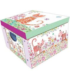 Large collapsible storage box with metal handles to make it easy to carry. Daisy Patches, Decorative Storage Boxes, Wimpy Kid, Peta, Friends, Kids, Children, Amigos, Boys
