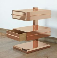 Smooth Copper drawers to brighten up your office space or even in your living room