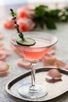 Cucumber & Rose Gin Cocktail