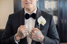 Groom fashion on point   Ebell Club Wedding Long Beach