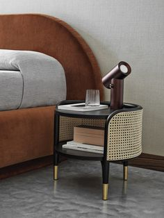 MOS Side Table - Gebrüder Thonet Vienna Interior Rendering, Room Interior Design, Rattan Furniture, Furniture Design, Cane Furniture, Trendy Furniture, Bauhaus, Side Tables Bedroom, Modern Side Table