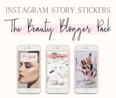 Instagram Story Stickers for Beauty Bloggers | Instagram Branding | Beauty Influencers and Bloggers | Girly, Pink, Feminine