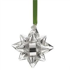 Kate Spade Silver Bow Ornament