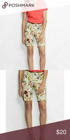 Floral Print Shorts Cute floral print Bermuda shorts Lands' End Shorts Bermudas