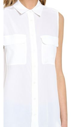 Equipment Sleeveless Cotton Signature Blouse