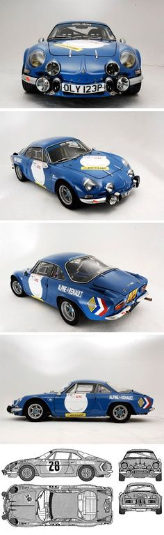 "Alpine Renault ""What's not to like? Cool, French version of Lotus that kills on rally stages. Alpine Renault, Renault Sport, Classic Sports Cars, Classic Cars, Vintage Racing, Vintage Cars, Peugeot, Rally Car, Fiat 500"