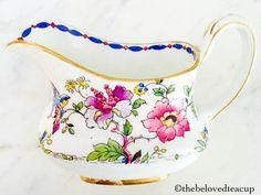 Star Paragon Floral Bird Sugar Bowl and Creamer Jug Sugar Bowls And Creamers, Sugar Spoon, Stoke On Trent, Cream And Sugar, Royal Doulton, Tea Set, Tea Cups, Bird, Stars