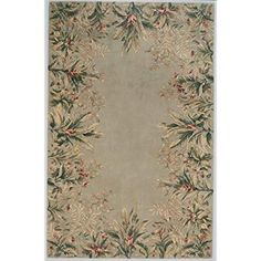 KAS Oriental Rugs x 11 Emerald Sage Tropical Border Beige Area Rugs, Wool Area Rugs, Wool Rugs, Coastal Area Rugs, Border Rugs, Saag, Thing 1, Layers Design, Traditional Rugs