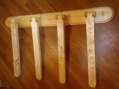 Swing Arm Wall Mounted Quilt Rack by ChosinWoods on Etsy Quilt Hangers, Quilt Racks, Blanket Rack, Quilt Ladder, Ladder Storage, Puzzle Table, Dog Bowl Stand, Quilt Display, Quilt Storage