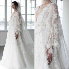 Wedding: Marchesa Bridal Fall 2018 - Bridal Fashion Trends - The most beautiful dresses and seasonal outfits Hijab Bride, Wedding Hijab, Boho Wedding Dress, Boho Dress, Modest Wedding, Dress Lace, Elegant Wedding, Floral Wedding, Fall Wedding