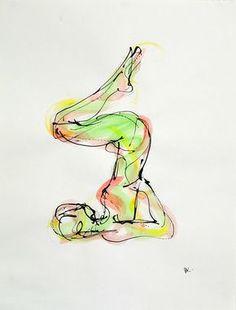 Halasana bent, avaiable on http://fineartamerica.com/featured/halasana-bent-boryana-korcheva.html #yoga