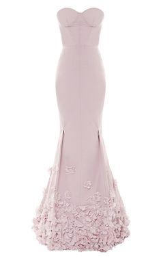 Floral-Appliquéd Taffetta Gown by Nina Ricci - Moda Operandi