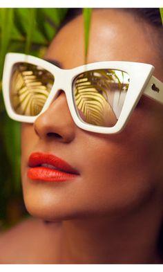 Vesper White Sunglasses from Quay x Shay Mitchell
