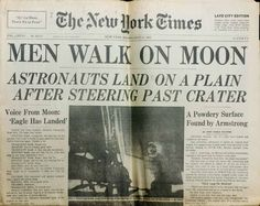 """First On The Moon!  Apollo 11, on June 21st, 1969 - Crew: Michael Collins, Edwin E. """"Buzz"""" Aldrin, and Neil A. Armstrong"""